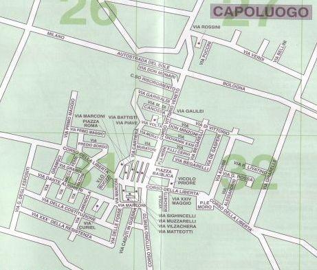 Mappa San Cesario